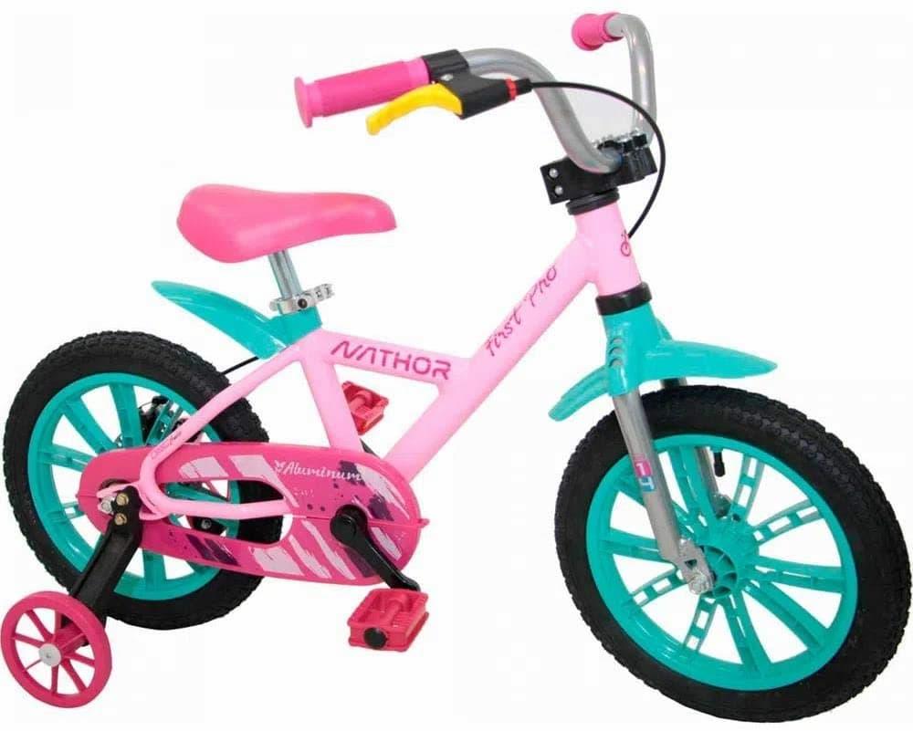 Bicicleta Aro 14 First Pro Rosa, Nathor