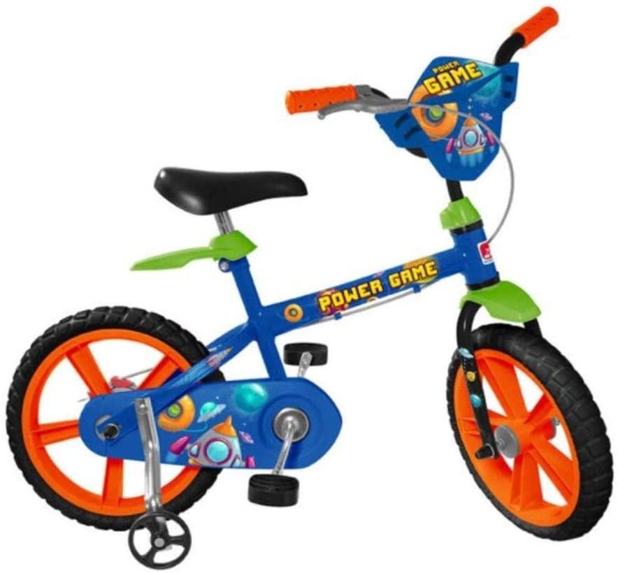 Bicicleta Aro 14 Power Game, Bandeirante, Azul