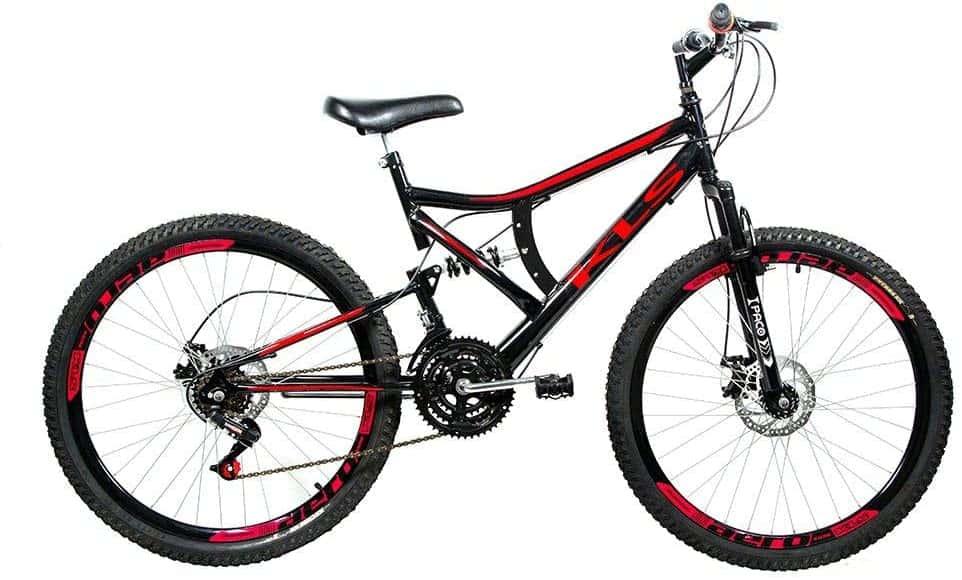 Bicicleta Full Suspension Kanguru Aro 26 Branca, Polimet