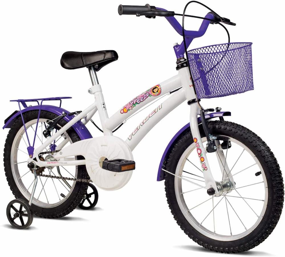 Bicicleta Infantil Verden Breeze – Aro 16 com cestinha e bagageiro